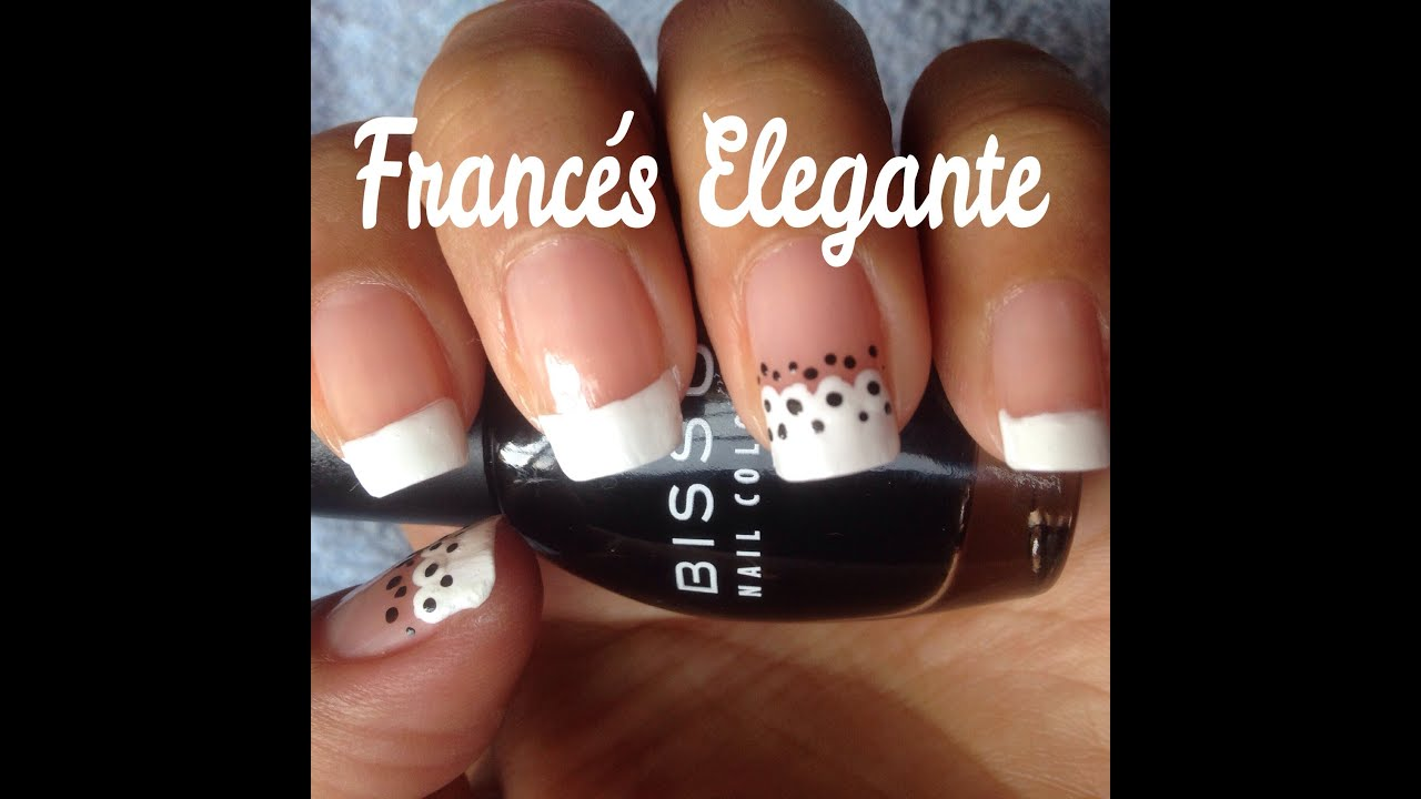 Diseño de Uñas Francés Elegante - YouTube