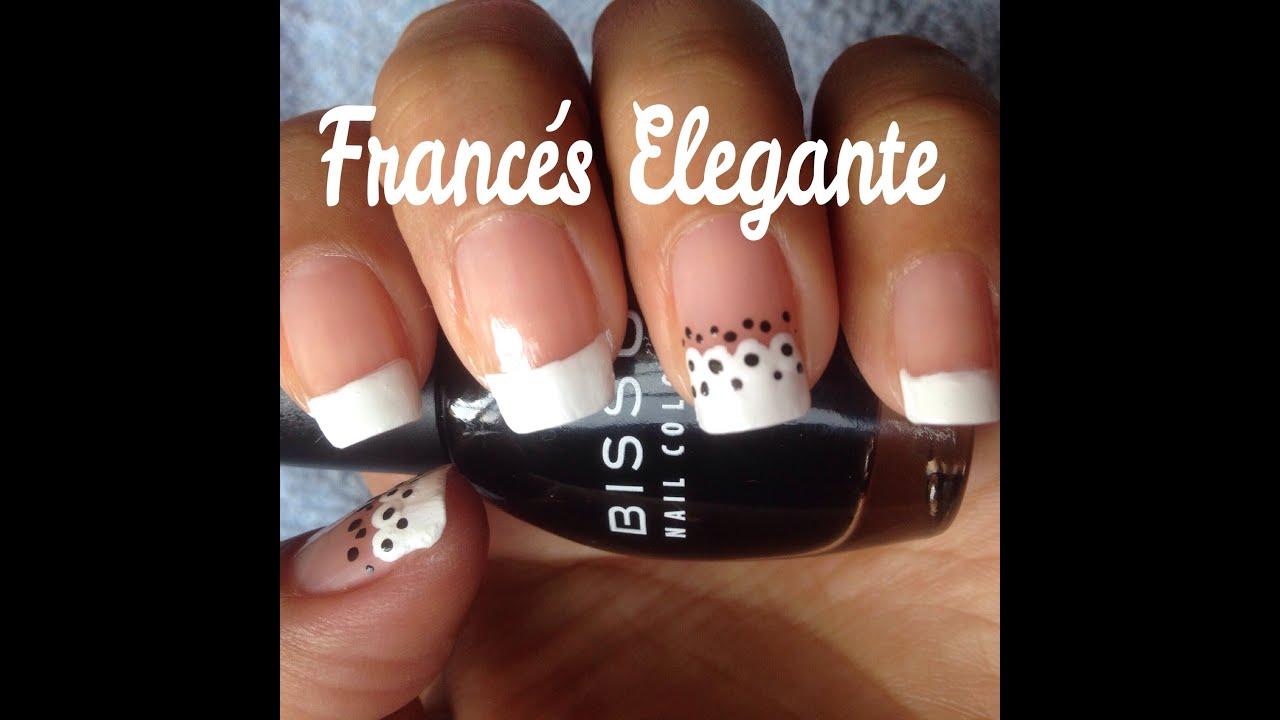 decoracion de uas francesa