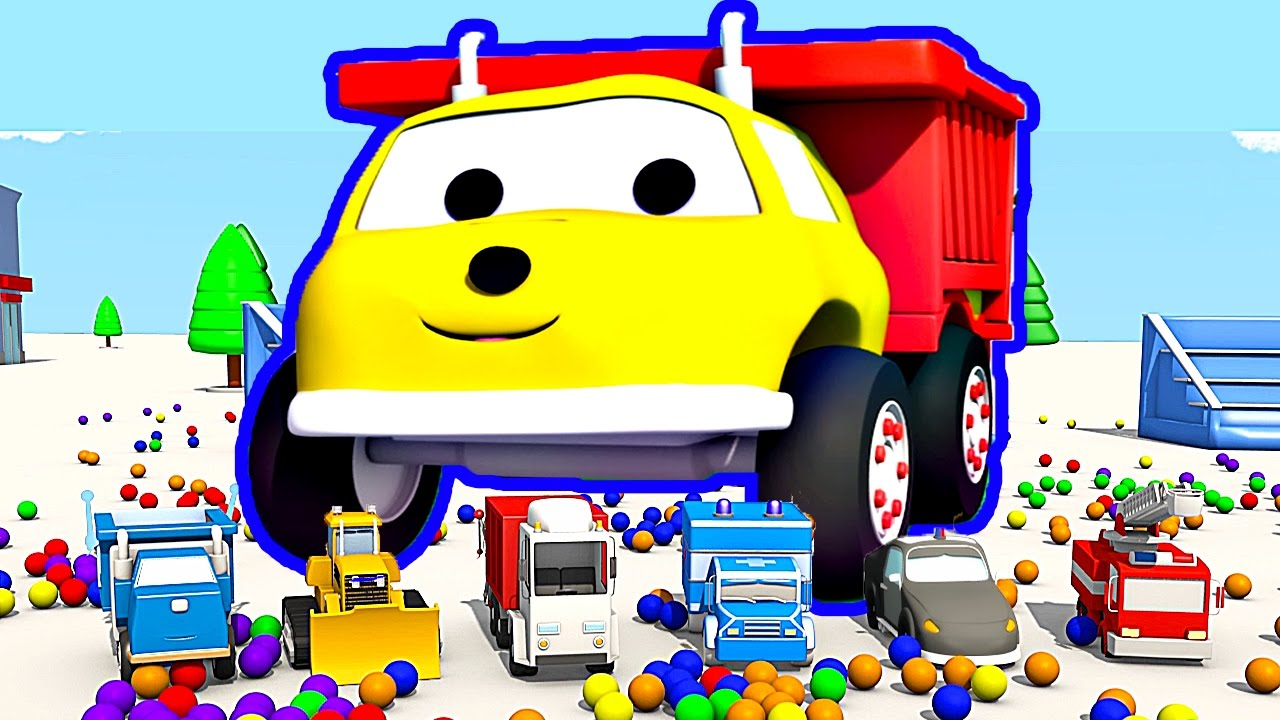 the-trampolines-and-the-cars-learn-colors-with-ethan-the-dump-truck