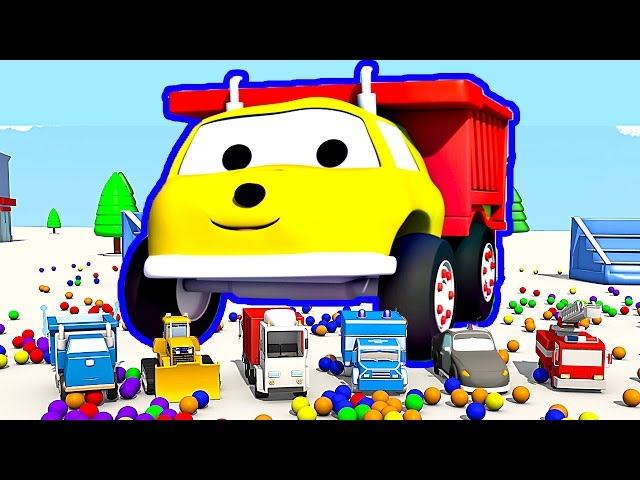The Trampolines and the Cars : Learn Colors with Ethan the Dump Truck