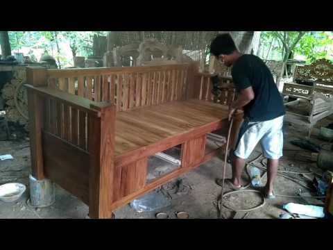 Bangku Bale-bale Minimalis LEO Proses Finishing