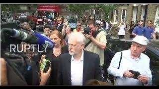 LIVE  Corbyn visits aftermath of Grenfell Tower