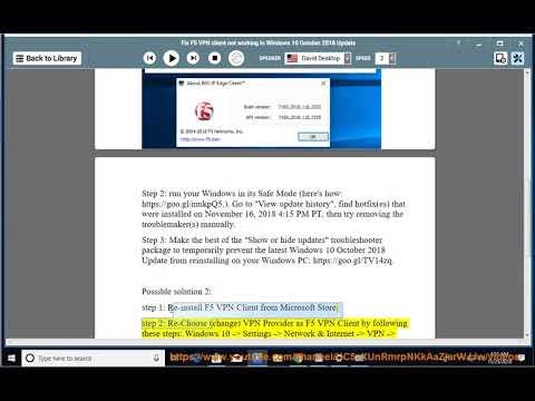 Fix F5 VPN client not working in Windows 10 October 2018