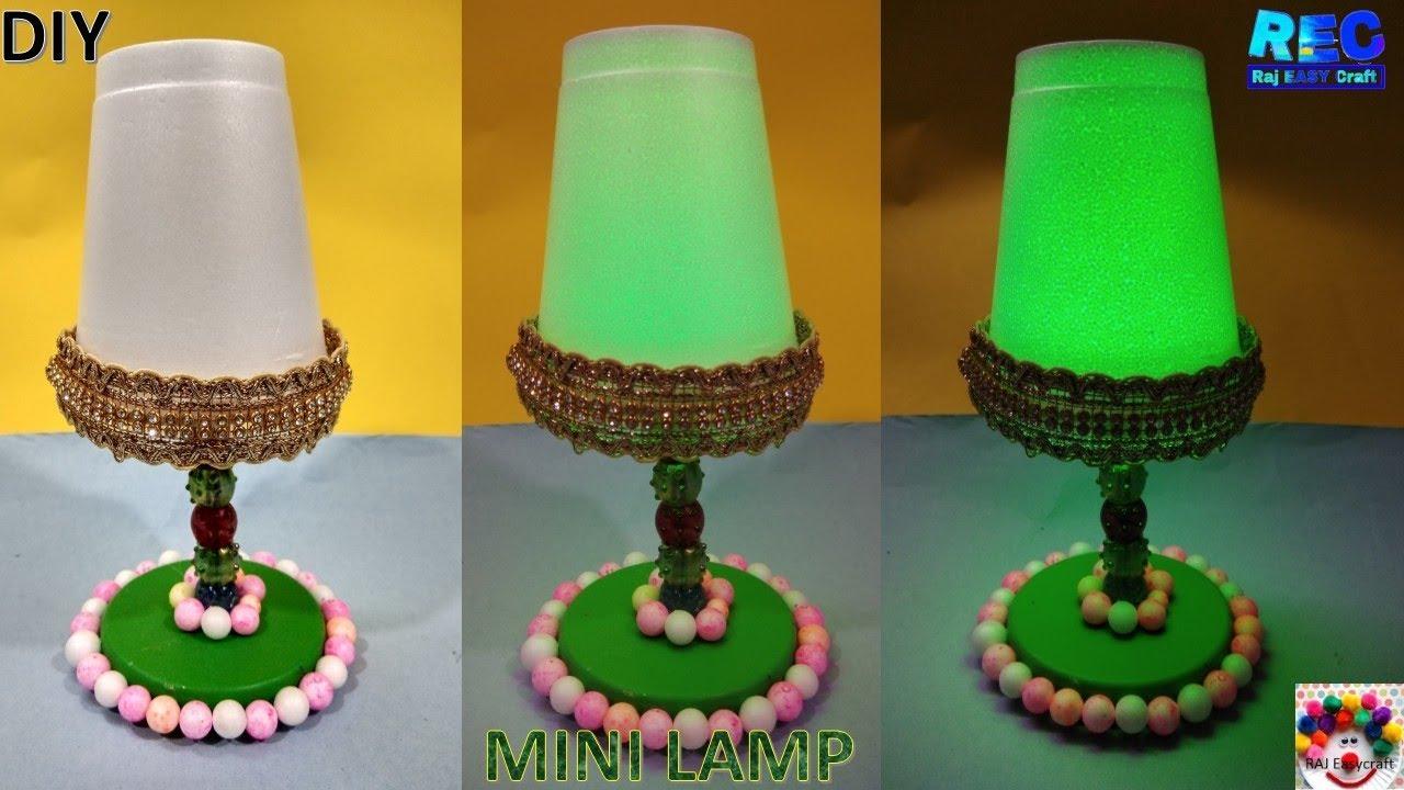 How To Make A Night Lamp At Home Diy Mini Lamp Raj Easy Craft