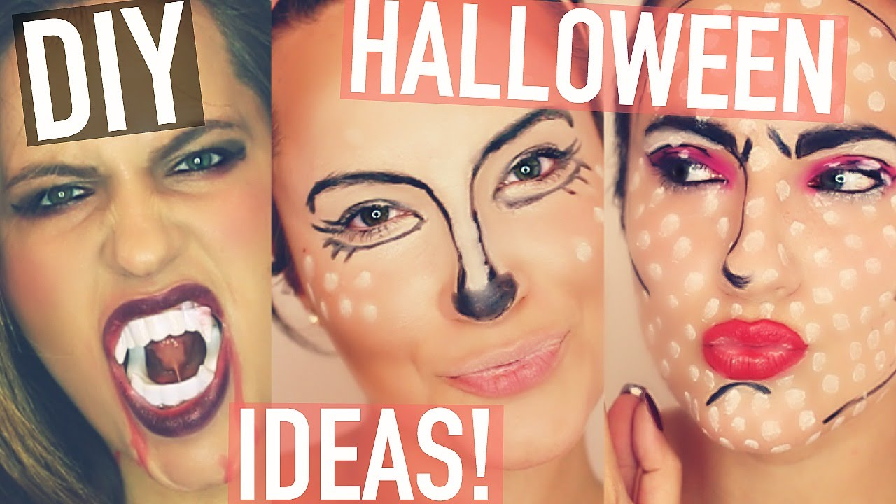 LAST MINUTE Halloween Makeup Tutorials! Quick + Easy! - YouTube