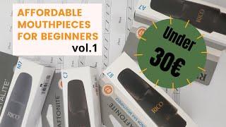 testing Rico saxophone mouthpieces (ENG sub) (Rigo Graftonite A, B, C, Metalite M)