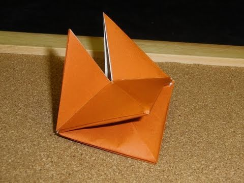 How to make an origami Fox face | Animals Paper Crafts ... | 360x480