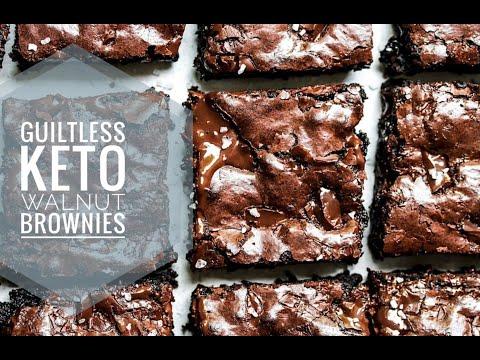 The Best Guiltless Keto Walnut Brownies | Easy Fudgy & Moist Brownies | Sugar-free | Only 2g carb