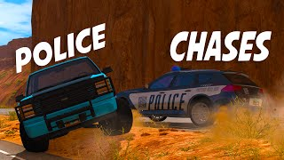 POLICE CHASE MADNESS - BeamNG Drive Police Chase Scenarios (Crashes and Funny Moments)