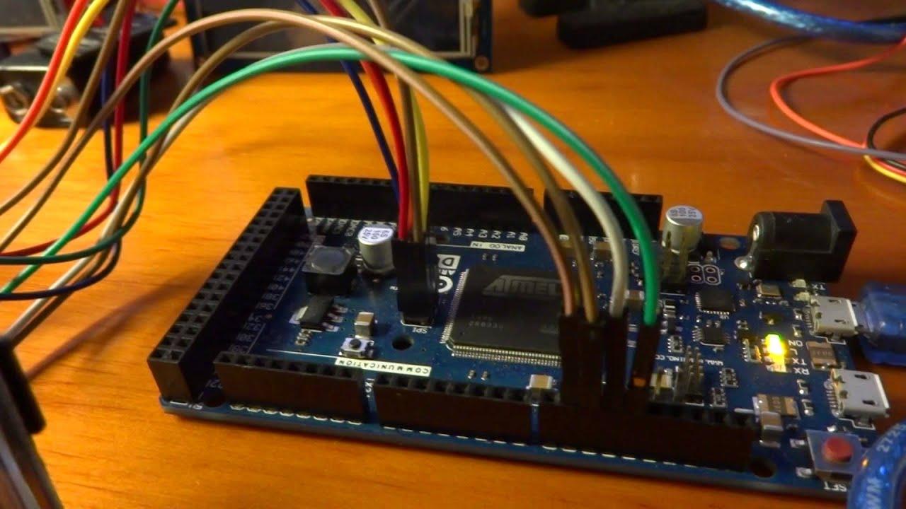 Arduino Due Spi Maximum Speed Arduinoboarddue Arduinoduepinoutdiagram Quot Tft Ili Y Youtube