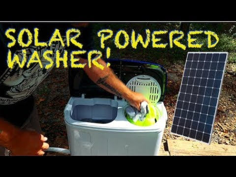 Solar Powered Off Grid Washer Amp Spin Dryer Youtube