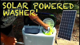 Solar-Powered Off-Grid Washer & Spin Dryer