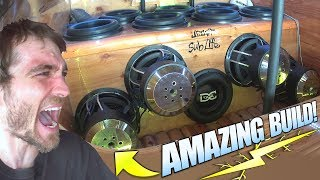 """Scrap Wood"" SUBWOOFER BOX at 165DB!?!? EXTREME Car Audio Demos & Loud BASS BOOSTED Dubstep Song"