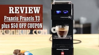 Review + $50 OFF coupon: Francis Francis for illy Y3 iperEspresso Machine