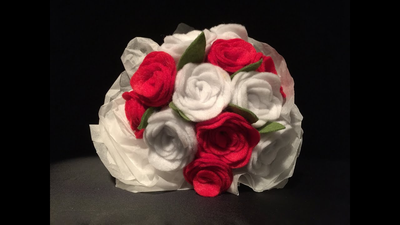 Como hacer un ramo de flores de fieltro f cil youtube - Como hacer ramos de flores ...