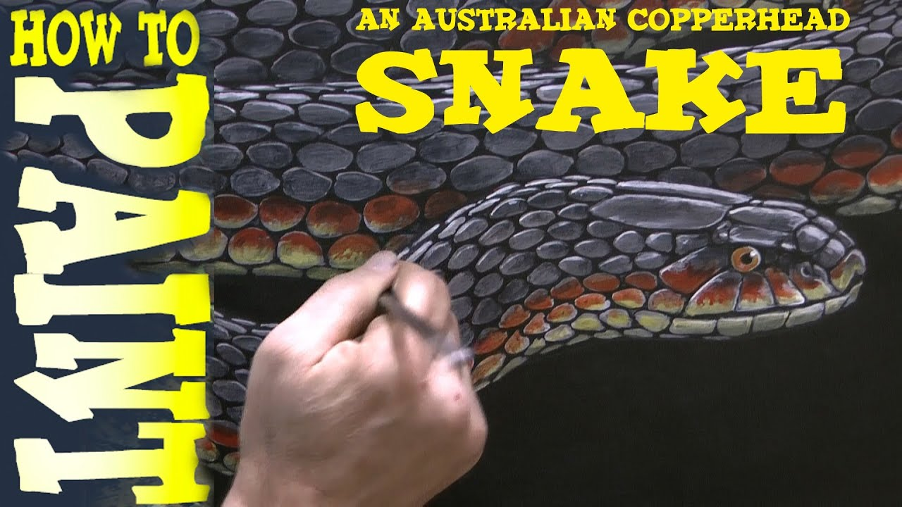 how to paint a snake advanced