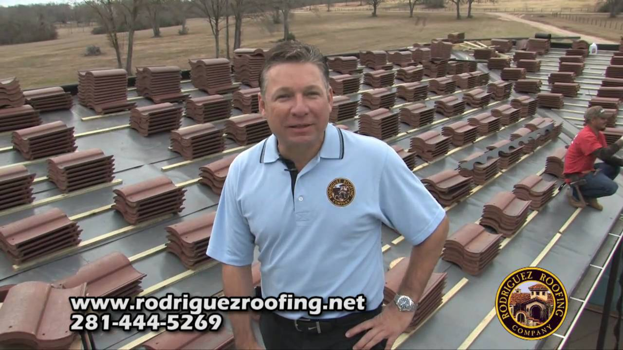 Rodriguez Roofing Tile Roof Installation Youtube