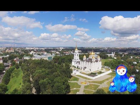 Bird's-eye view of Vladimir city - Vladimir şehri, Rusya - Владимир с высоты птичьего полета
