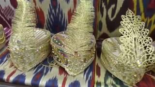 Свадебные платья. Узбекская ткань ручной работы . Изумительная красота ,март 2019. Бишкек