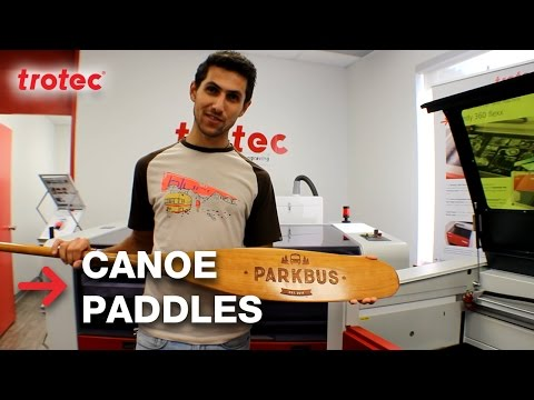 Engraving Canoe Paddles With Parkbus Canada