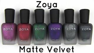 Zoya Matte Velvet Collection: Live Application & Review Thumbnail