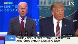 Elecciones en Estados Unidos: Trump y Biden se enfrentan en su primer debate presidencial