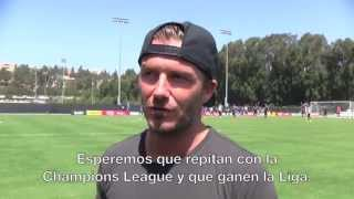 BEHIND THE SCENES: David Beckham visits the team in LA