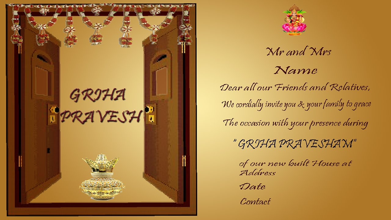 Design A House Warming Invitation Card