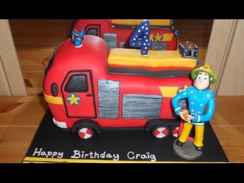 Fireman Cake Youtube