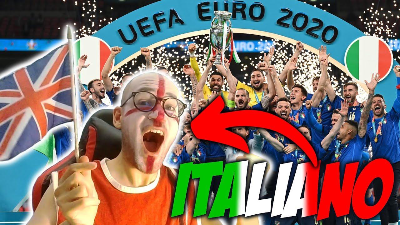 Tifo INGHILTERRA alla FINALE perché ODIO il CALCIO ma l'ITALIA vince comunque: Reaction Euro 2020