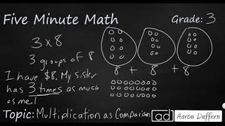 3rd Grade Math Multiplication as Comparison