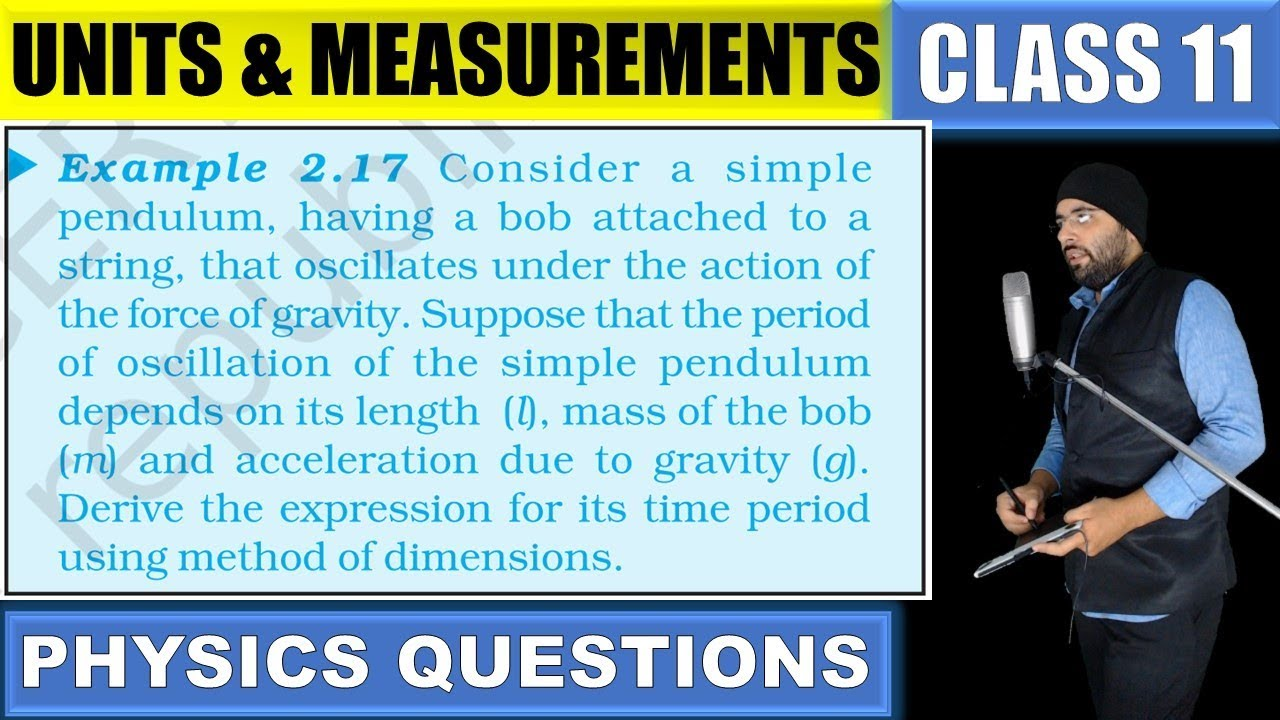 Example 2 17 Units and Measurements Class 11 Physics IIT Jee