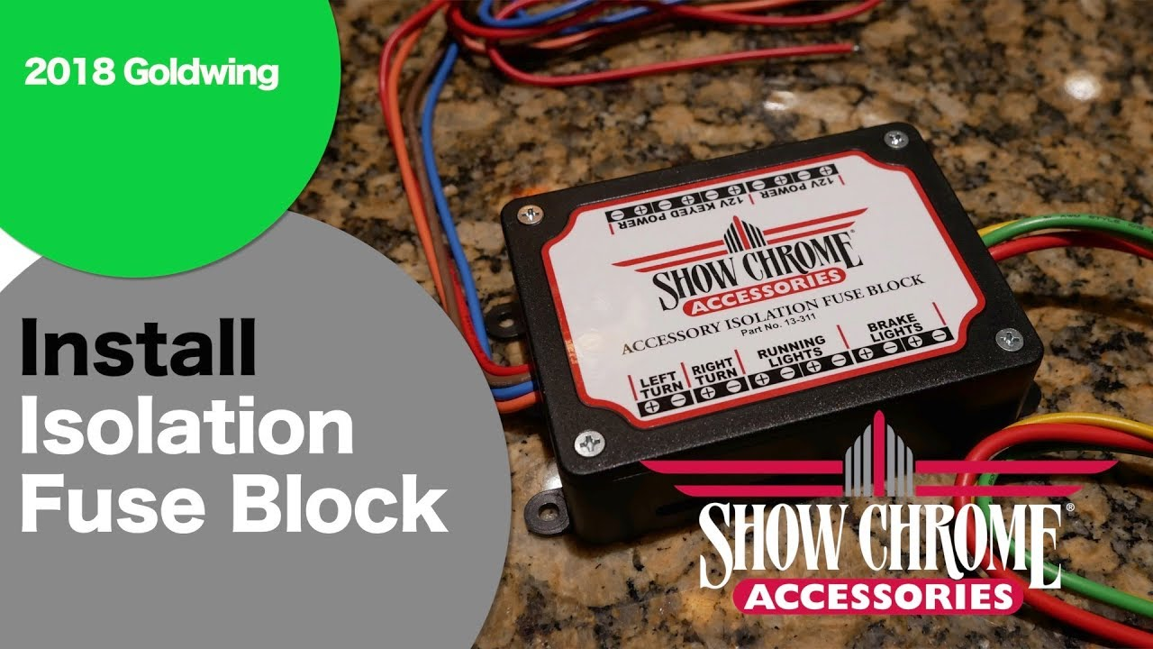 Install Show Chrome Isolation Fuse Block On 2018 Goldwing Youtube Accessory Wire To Box Cruisemansgarage Bigbikeparts Showchromeaccessories