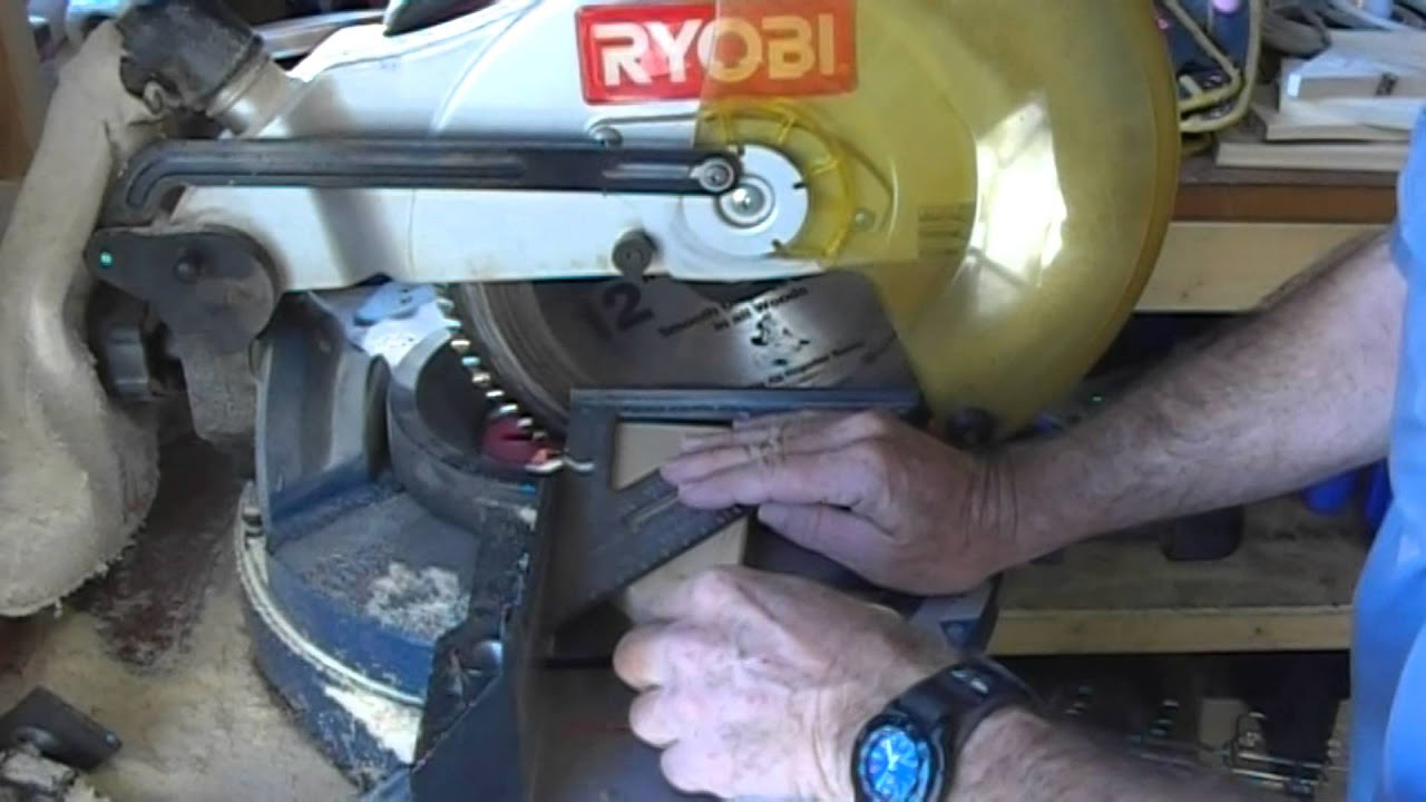 Setting up a compound miter saw ryobi youtube for 12 inch table saw blades