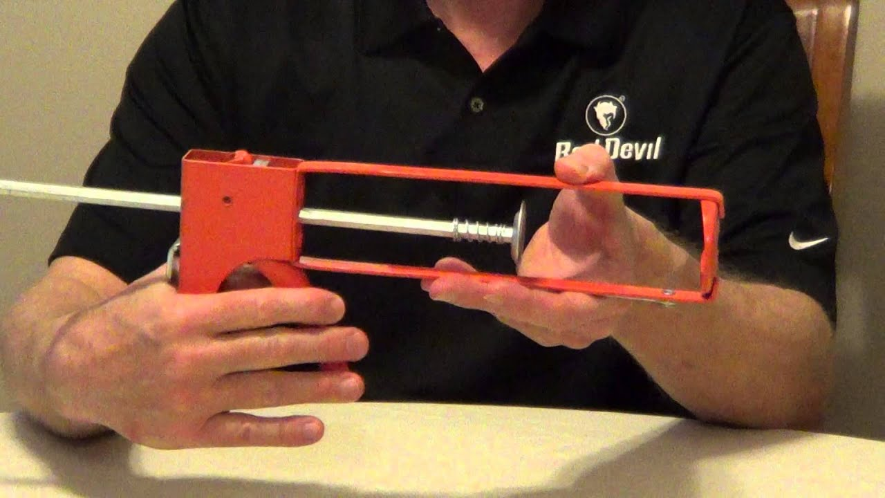Types of Caulk Guns - Drip Free Caulk Gun - YouTube