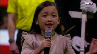 7 year old Malea Emma crushes the national anthem AGAIN at 2018 MLS Cup