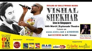 Vishal Shekhar Performs live in Singapore 30th March 2014 at Esplanade
