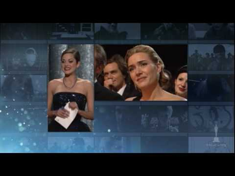 "Thumbnail: Kate Winslet winning Best Actress for ""The Reader"""