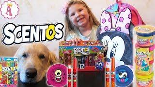 Ароматная канцелярия Scentos для школы Канцтовары для детей с запахом фруктов Распаковка и обзор