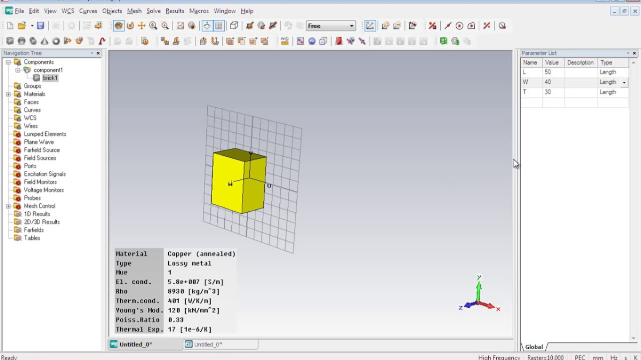CST MWS Tutorial 01: 3D objects, Parameterization, Local Coordinate System  & Extrude Function