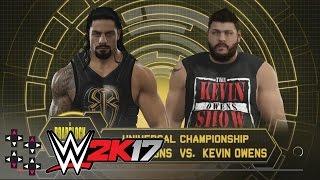 WWE Roadblock:  Roman Reigns vs. Kevin Owens - WWE Universal Title Match — WWE 2K17 Match Sims