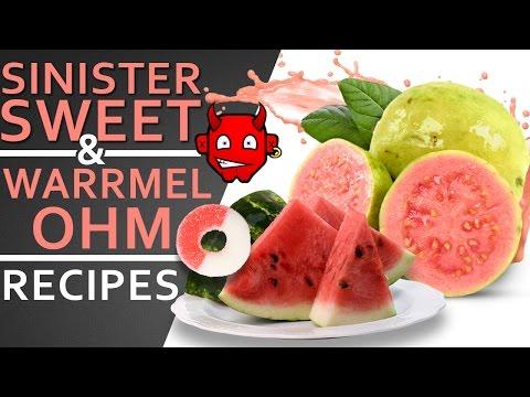 DIY eLiquid Recipe | Sinister Sweet & Warr Mel Ohm | Spring Time Recipes Watermelon Guava Grapefruit
