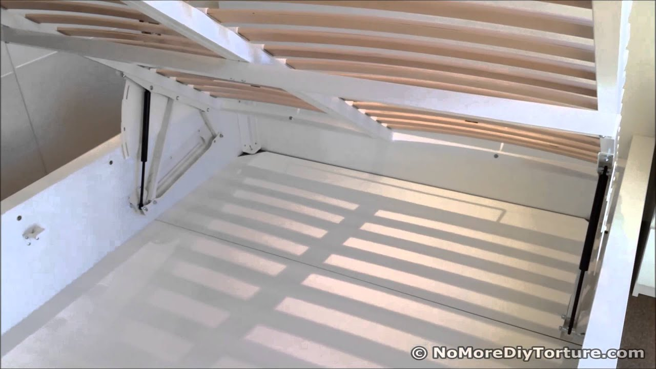 Storage Bed - IKEA Malm Bed Frame with Storage Design - YouTube