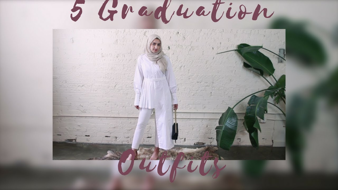 8b12c01ef33 5 Modest Graduation Outfit Ideas - YouTube