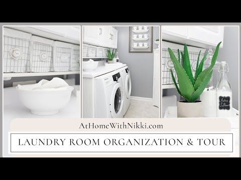 LAUNDRY ROOM ORGANIZATION & TOUR | Home Organizing Tips