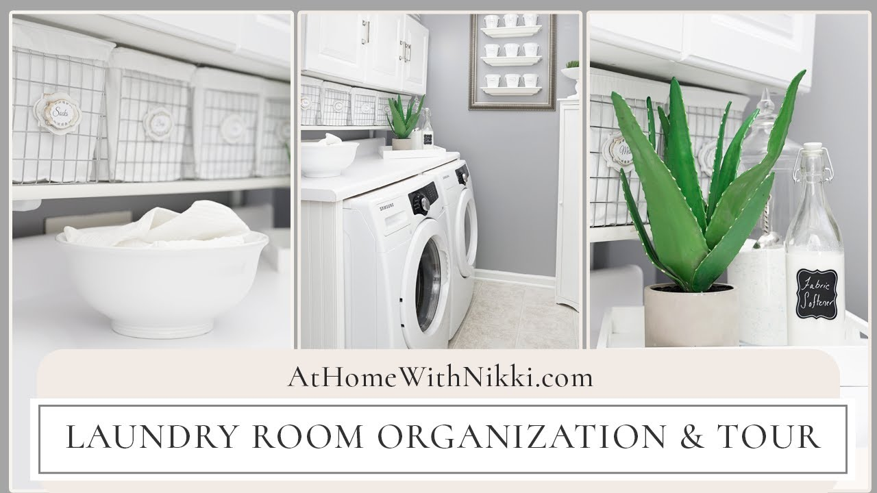 Laundry room organization tour home organizing tips for How to add a laundry room to your house