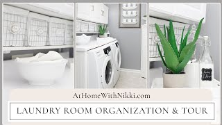 LAUNDRY ROOM ORGANIZATION & TOUR   Home Organizing Tips