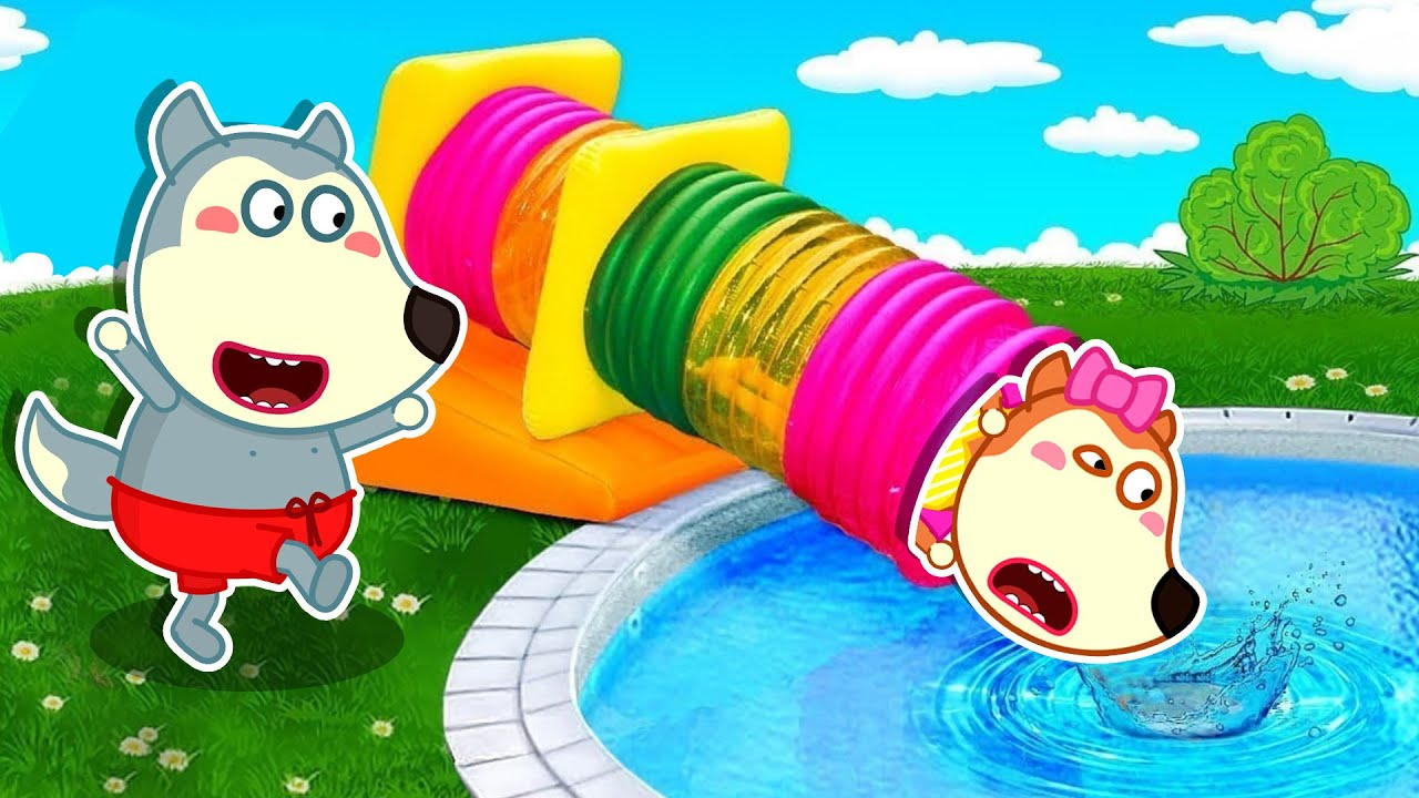 Download LYCAN Arabic 🌟 Lycan Teaches Ruby How to Swim in the Pool   Lycan's Funny Stories For Kids