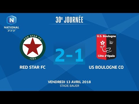 J30 : Red Star FC - US Boulogne CO (2-1), le replay I National FFF 2018