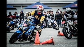 2018年4月8日に開催されたモーターサイクルイベント「モトジムカーナ」...